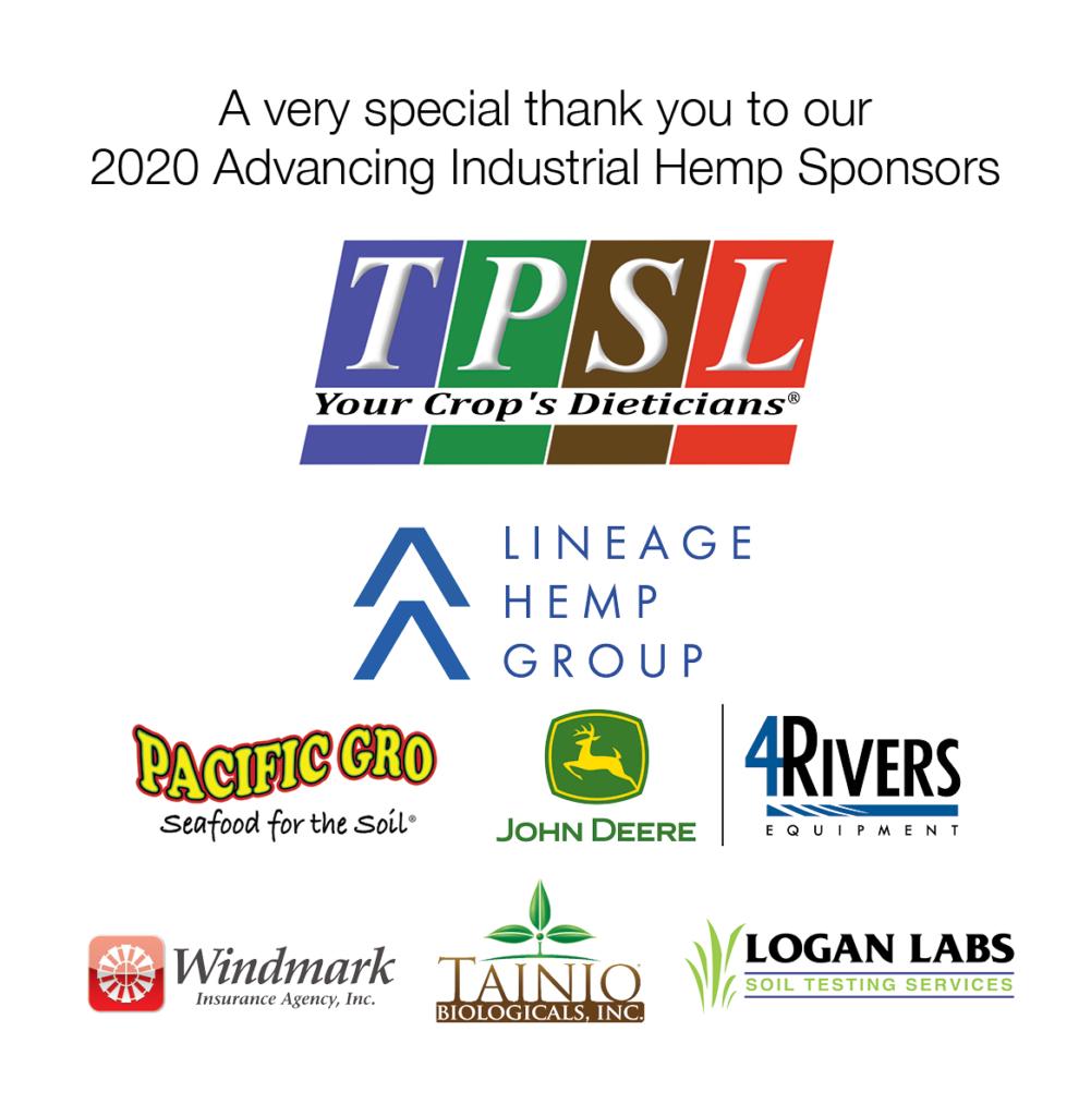 Hemp webinar sponsors